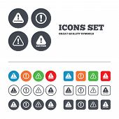 image of hazardous  - Attention caution icons - JPG