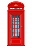 foto of phone-booth  - london red phone booth vector illustration isolated on white background - JPG
