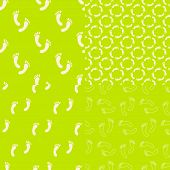 picture of flat-foot  - Feet seamless pattern and background set - JPG