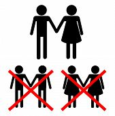 stock photo of perversion  - No perversion conceptual vector illustration from signs - JPG