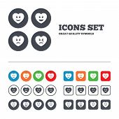 picture of cry  - Heart smile face icons - JPG
