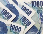foto of japanese coin  - Stack of japanese currency yen or Japanese banknotes - JPG