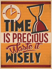 picture of wise  - Retro Style Poster to Make you mind sharp with the Idea about Time - JPG