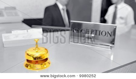 bell on hotel reception