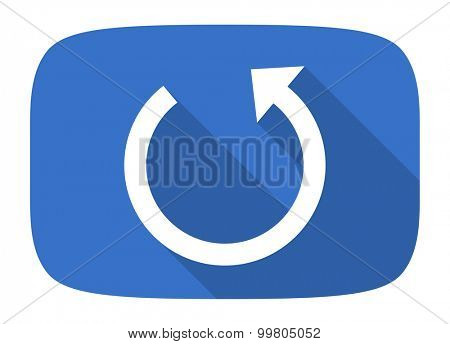 rotate flat design modern icon with long shadow for web and mobile app