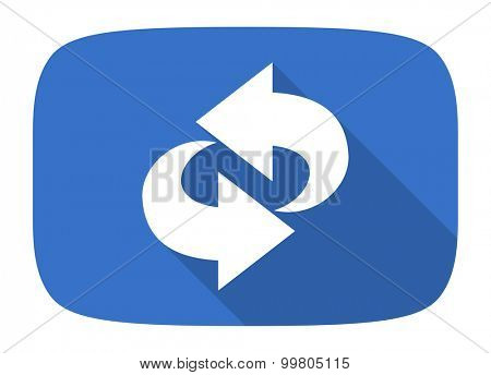 rotation flat design modern icon with long shadow for web and mobile app