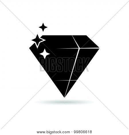 Diamond Expensive Black Vector