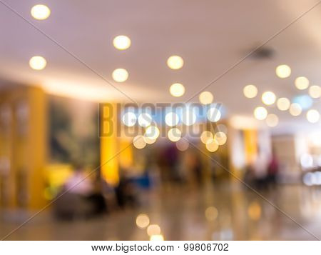 Image Blurred Of Hotel Lobby Background