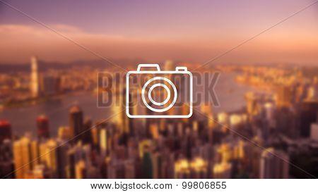 Photo Hong Kong Cityscape Downtown View Concept