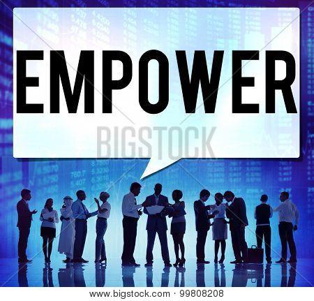 Empower Authority Permission Empowerment Enhance Concept