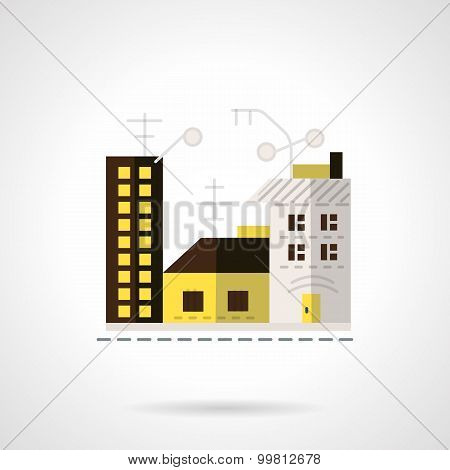 Rent apartments vector icon flat style