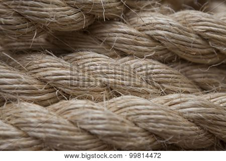 Roll of ship ropes as background texture.