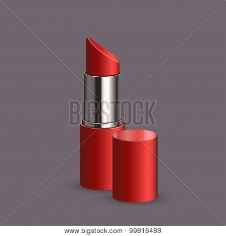 Vector modern lipstick set