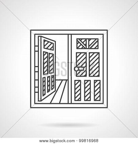Rent of premises vector icon line style