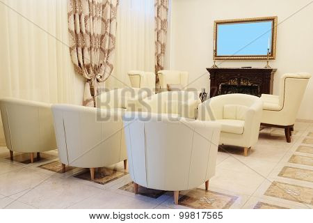 lounge in a modern hospital, office center or hotel
