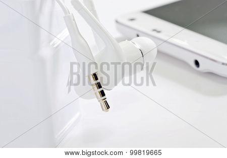 White Earphone Jack