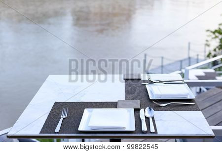 Dinner Table At Riverside