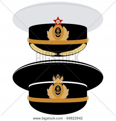 Cap Officer Of The Navy Of The Ussr And Russia
