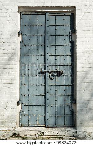 Old Steel Door To Archangel Michael Cathedral