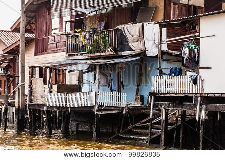 Asian Slum In Thailand