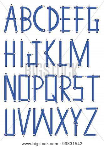 Graphite Pencil Vector Font Design