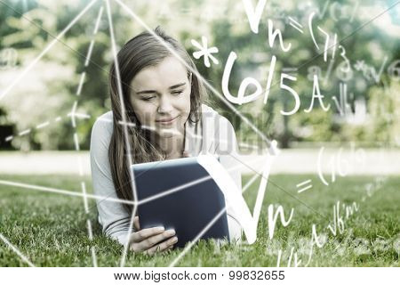 Math problems against university student lying and using tablet pc