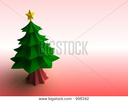 Minimalistic Christmas Tree (Card Background)