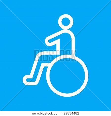 Sitting on wheelchair