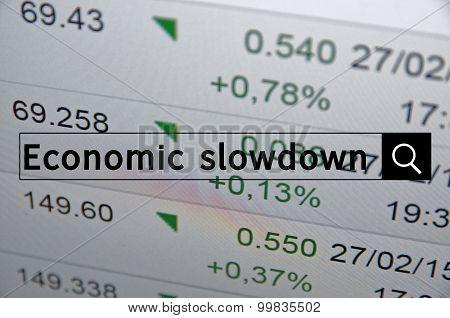Economy slowdown