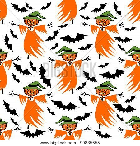 Scarecrow Seamless Pattern