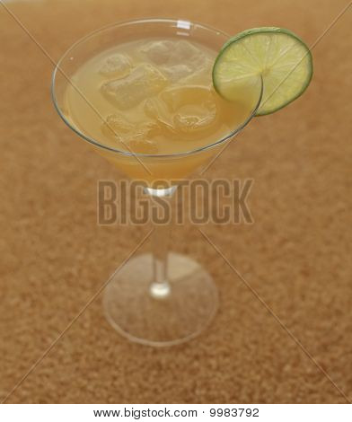 Daiquiri on sugar background