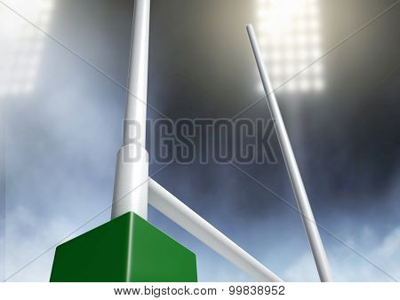 Rugby Posts Stadium Night