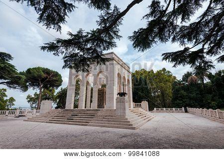 View of Mausoleum ossuary of the Janiculum hill