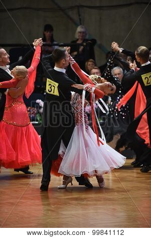 Ballroom Dance Couple Dancing At The Competition