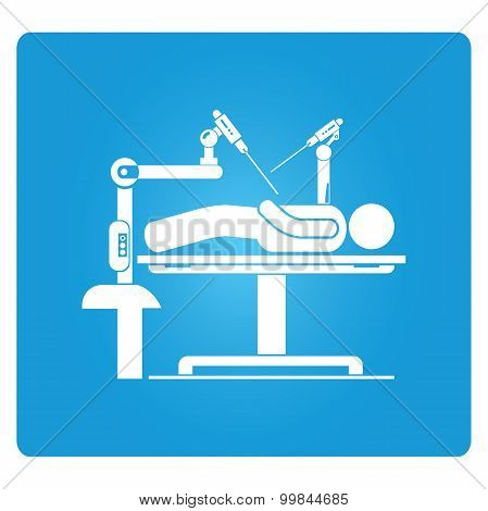 robot-assisted surgery icon