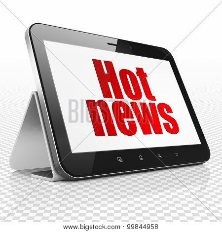 News concept: Hot News on Tablet Computer display