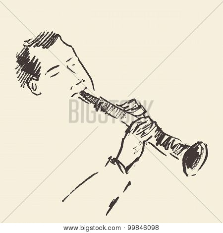 Jazz poster Clarinet music acoustic consept