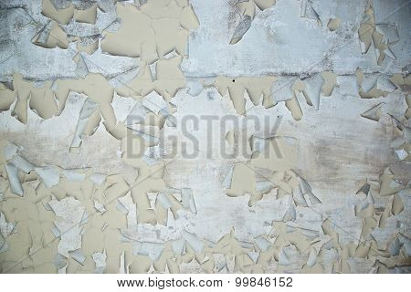 Peeling Paint on cement background texture