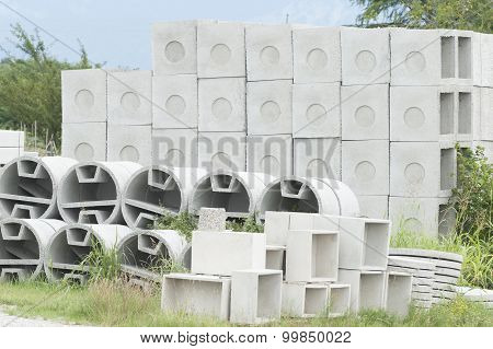 Deposit Of Prefabricated Concrete