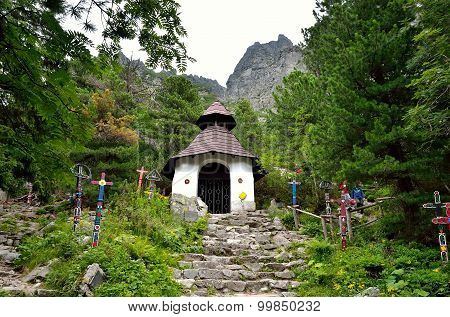 Symbolical Cemetery under Ostrva in High Tatra Mountains Slovakia.