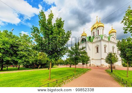 Pushkin, Saint Petersburg/Russia - August 02, 2015: Ekaterina's Cathedral