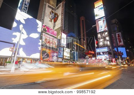 Times Square and Broadway Theaters, New York, USA