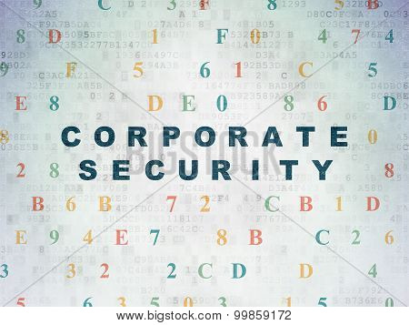 Safety concept: Corporate Security on Digital Paper background