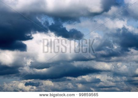 Dark Thunderclouds In The Cloudy Sky