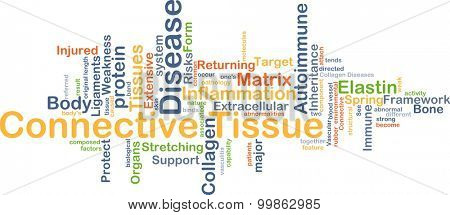 Background concept wordcloud illustration of connective tissue disease