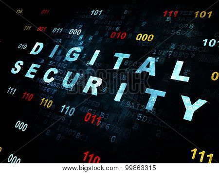 Security concept: Digital Security on Digital background
