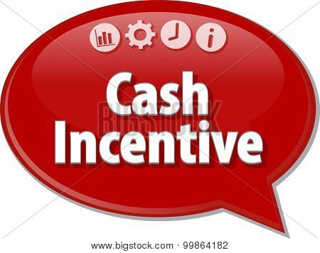 Blank business strategy concept infographic diagram illustration Cash Incentive