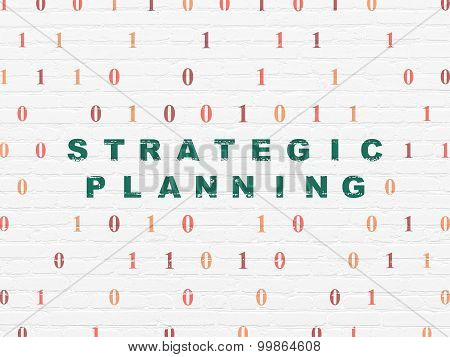 Business concept: Strategic Planning on wall background