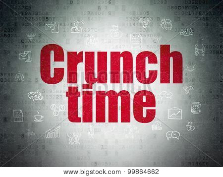 Business concept: Crunch Time on Digital Paper background