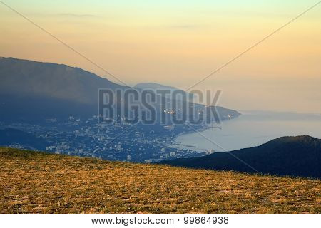 View Of Yalta City From Ai-petri